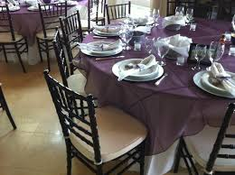 table overlays for wedding reception photo wedding reception table set up with organza overlay and