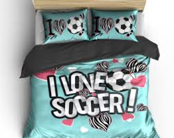 Personalized Girls Bedding by Soccer Bedding Etsy