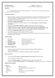 Informatica Sample Resume by Etl Informatica Resume Free Resume Example And Writing Download