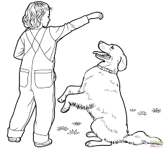 labrador retriever coloring page with coloring pages eson me