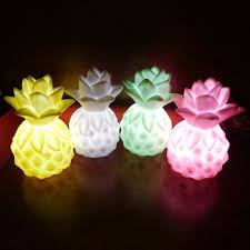 1pc 2017 new rotocast pineapple night lights bedside table lamp