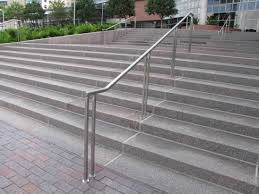 Steel Banister Rails Create Unique Metal Handrailings With Metal