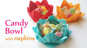 diy crafts candy bowl with paper napkins innova crafts youtube