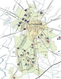 Battle Of Gettysburg Map Gettysburg Maps Historynet East Cavalry Field Battle Of