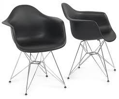Eames Style Rar Molded Black Lovable Eames Style Vortex Med Plastic Side Chair Walnut Le Bark