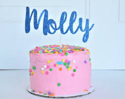 personalized birthday candles name cake topper etsy
