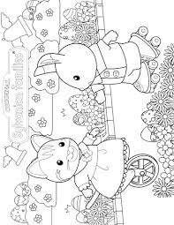 kids for calico critters coloring pages eson me
