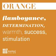 words that describe orange sensational color kid art color