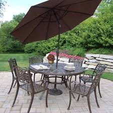 Cast Iron Patio Dining Sets - oakland living elite all weather wicker patio dining set oakland