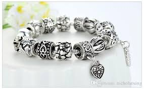 vintage silver bracelet charms images New design pandora beads antique silver charm bracelet bangle jpg
