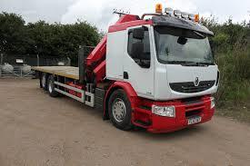 renault truck premium 26 tonne renault premium 370 flatbed with hmf crane truck for sale
