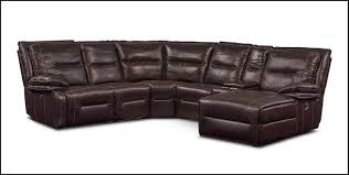 Value City Sectional Sofa 6 Power Reclining Sectional With 2 Recliners And Right