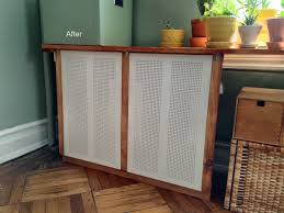 Ikea Storage Bench Hack Got An Ugly Radiator Cover It With Ikea Algot Ikea Hacks