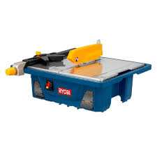 bench tile cutter ryobi 3 4 hp 7 in wet tile saw ws7211 the home depot