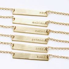 Personalized Gold Necklace Name Gold Bar Necklace Name Bar Necklace Gold Nameplate Necklace