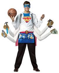 Rasta Man Halloween Costume Super Dad Men Costume Humor Funny Giant Hands Incredibles