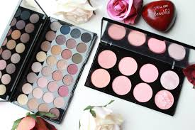 the makeup revolution eyeshadow and contour palettes inthefrow