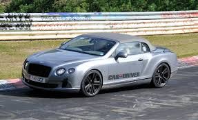 bentley continental gtc 2013 bentley continental gtc spied on the u0027ring car and driver blog