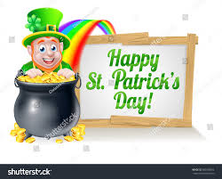 leprechaun cartoon st patricks day character stock vector