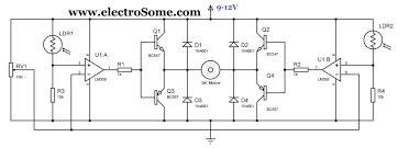 simple solar tracker circuit using lm358 diagram wiring diagram
