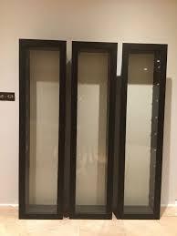 Ikea Bertby Glass Door Wall Cabinet Ikea Bertby Glass Fronted Wall Mounted Display Cabinet In