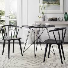 safavieh country classic dining blanchard grey wood dining chairs