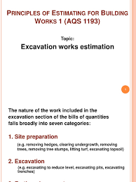 Excavation Estimating by Estimating For Excavation Works Excavation Archaeology