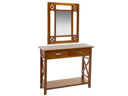 muebles para recibidor mueble para recibidor colonial madera con espejo y cajones
