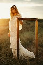 ivory lace wedding dress norma bohemian lace wedding dress dreamers and