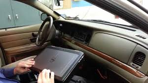 Car Laptop Desk by Ford Crown Victoria In Vehicle Laptop Mounting Solution Youtube