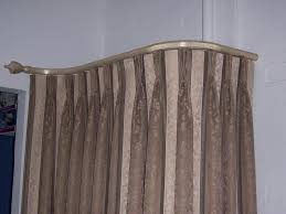beautiful yet functional curved curtain rod u2014 the homy design