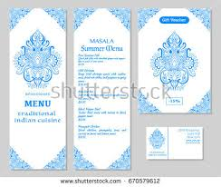 indian menu template vector illustration menu card template design stock vector