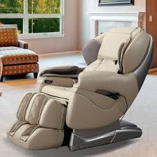 titan pro series tan faux leather reclining massage chair tp
