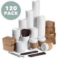 Office Coffee Mugs Amazon Com Jumbo Set Of 120 Paper Coffee Cups With Travel