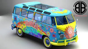 volkswagen van hippie blue model volkswagen type 2 samba