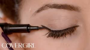 how to apply eyeliner cat eye makeup covergirl youtube