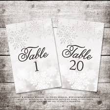 silver wedding table numbers winter table numbers snowflake wedding table numbers silver grey