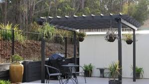 backyard creations deluxe arched pergola shade kit ideas images