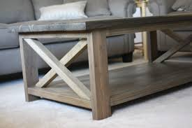 Plans To Make End Tables by Delighful Rustic Coffee Table Plans W Planked Top Free Diy To