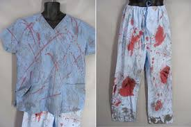 zombie costume bloody dr costume psycho surgeon slasher