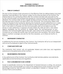 service agreement contract sample service agreement contract form