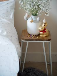 easter side table styling with gypsophila flower and cox and cox