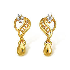 gold drop earrings buy nishtaa 22k yellow gold drop earrings online at low prices in