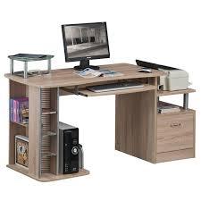 bureau informatique en bois bureau informatique aspect bois de chêne s 202a 1845