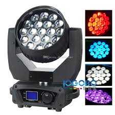 Cheap Emergency Lights Factory Cheap 15wx19 Zoom Rgbw 4in1 Led Beam Moving Head Wash Dj