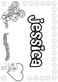 coloring pages jessica name jessica coloring pages hellokids com