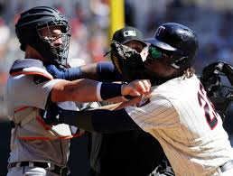 watch sano shoves mccann benches clear at tense target field