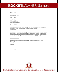 employee warning letter warning letter to employee with sample