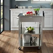 prep table kitchen kitchen prep table wood top stainless kitchen trolley stand alone