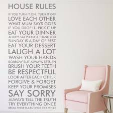 House Rules Design Com by House Rules Vinyl Wall Art Sticker Quote Decal Funny Family